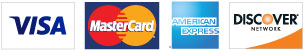 Visa, MasterCard, American Express & Discover Accepted